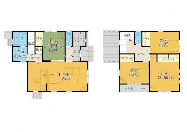 2階主寝室の広さや1階の収納等こだわりあるプランです(^_-)-☆