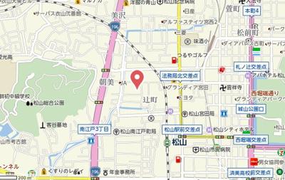 【地図】ブランノワール辻町