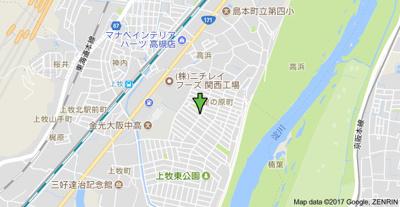 【地図】アンフィニィ上牧 (株)Roots