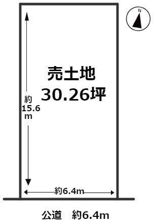 【土地図】海部郡蟹江町平安1丁目 売土地