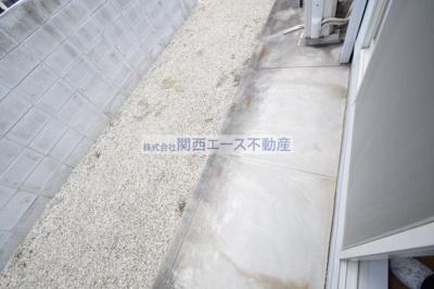 【バルコニー】レオパレス瓢箪山第3