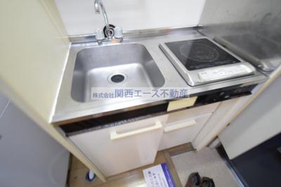【キッチン】レオパレス瓢箪山第3