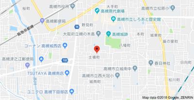 【地図】プルミエール高槻(株)Roots
