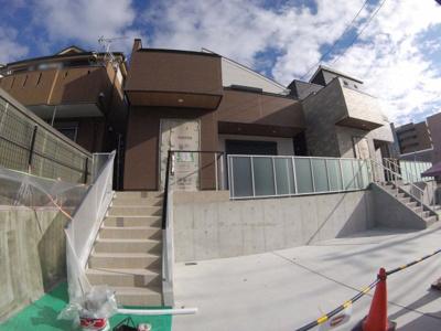 【前面道路含む現地写真】小浜4丁目新築戸建 A号地