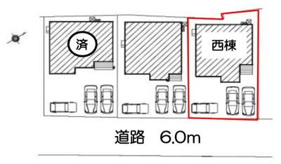 【区画図】富士市今泉 新築一戸建て 西棟 FF