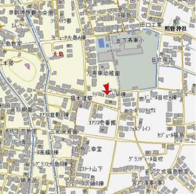 【地図】ラディアンスシェルA棟