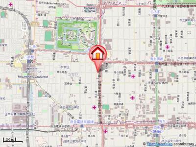【地図】S-FORT二条城前(旧グランエターナ二条城前)