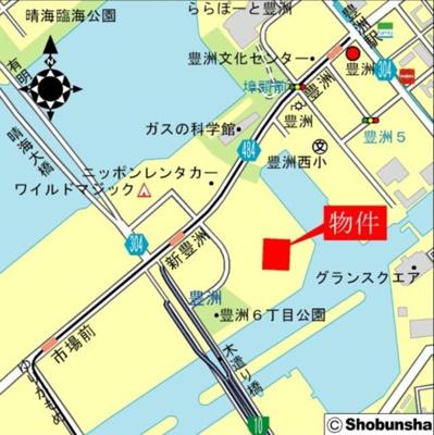 【地図】ベイズタワー&ガーデン(BAYZ TOWER&GARDEN)