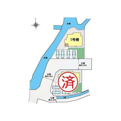 【区画図】甲斐市境-長期優良住宅-