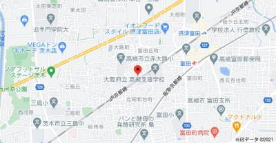 【地図】富田丘町テラスハウス