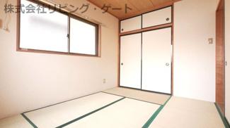 和室にもエアコンがあります。冬も夏も快適です。