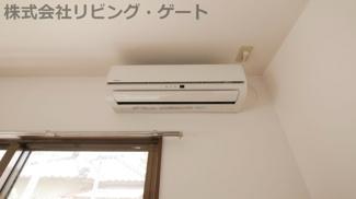 リビングのエアコンです。