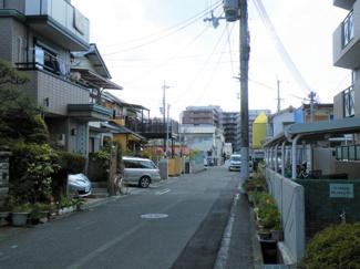 【前面道路含む現地写真】尼崎市武庫之荘 売土地