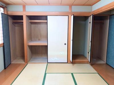 和室の収納です♪クローゼットに改装するとオシャレになりますよ♪