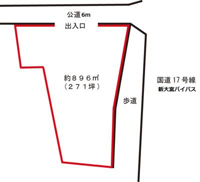 【区画図】美女木7丁目駐車場