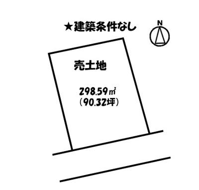 【区画図】奈良津町1丁目売土地