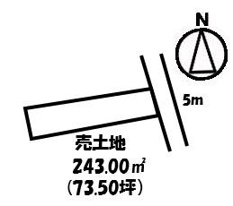 【外観】横尾2丁目売地