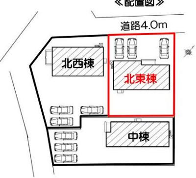 【区画図】袋井市高尾 7期 新築一戸建て 北東棟 FF