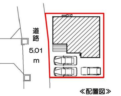 【区画図】沼津市大岡 新築一戸建て 2号地 FF