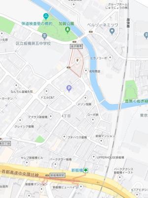 【地図】トップワイ板橋