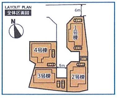 【区画図】社4区画分譲①号地