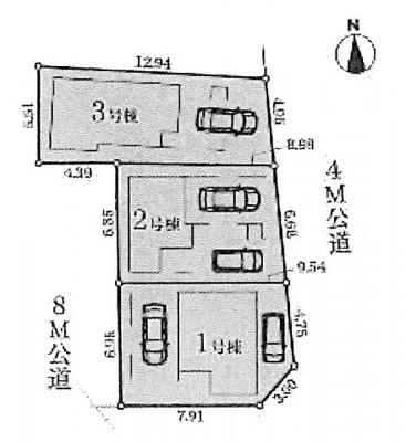 【区画図】名古屋市西区則武新町2丁目16−5 【仲介手数料無料】新築一戸建て 3号棟