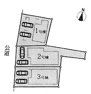 【区画図】名古屋市中村区名駅南5丁目9−24 【仲介手数料無料】新築一戸建て 1号棟