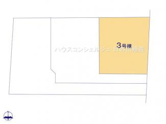 【区画図】中川区富田町大字千音寺字南島3536【仲介手数料無料】新築一戸建て