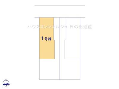 【区画図】名古屋市港区西茶屋1丁目185 【仲介手数料無料】新築一戸建て 1号棟