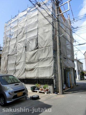 八千代台東2丁目 新築戸建 建築中 令和3年4月完成予定 角地 バス通り(希望通り沿い
