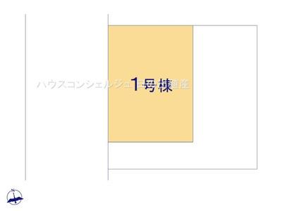 【区画図】名古屋市港区福田2丁目910【仲介手数料無料】新築一戸建て 1号棟