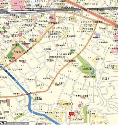 【地図】ドルチェ荻窪・壱番館