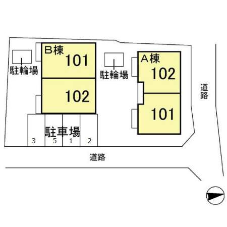【区画図】テラス瀬ヶ崎 A/B