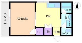 角部屋1DK