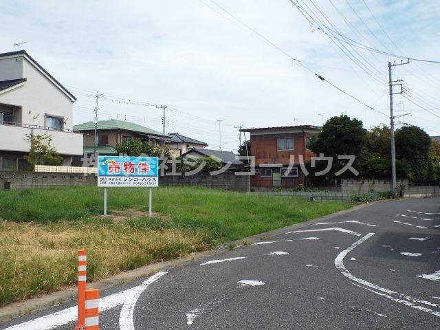 【前面道路含む現地写真】久喜市伊坂 売地