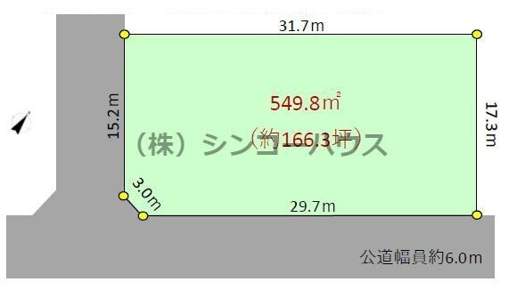 【土地図】久喜市伊坂 売地