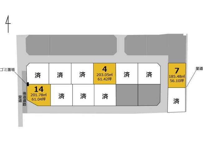 【区画図】北区梶尾町 4号地