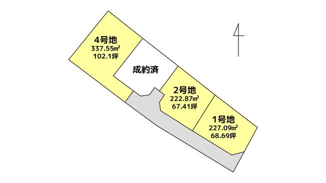 【土地図】玉名市川部田 1号地