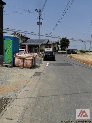 【前面道路含む現地写真】久留米市三瀦町 第4 オール電化 一建設株式会社
