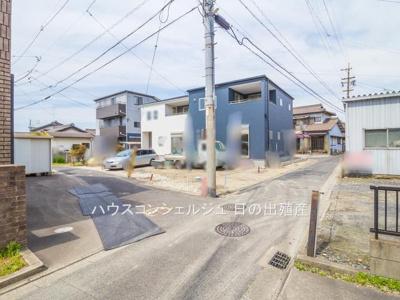 【前面道路含む現地写真】東海市高横須賀町西屋敷70【仲介手数料無料!】全2棟 新築一戸建て