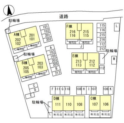 【区画図】シンフォニータウンⅠ B棟