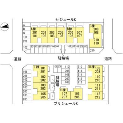 【区画図】プリシェールK Ⅰ棟