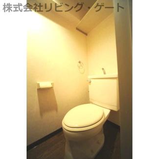 トイレ。温水洗浄便座です。