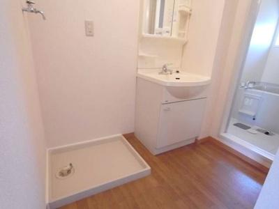 洗濯機置き場&洗面台