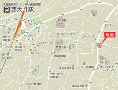 【地図】ビューノI大井