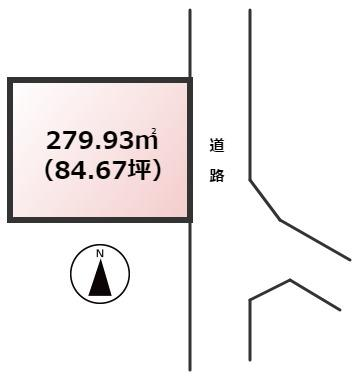 【土地図】太宰府市三条2丁目土地