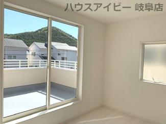 きれいな洋室です♪岐阜市日野南新築建売 車並列4台駐車OK♪