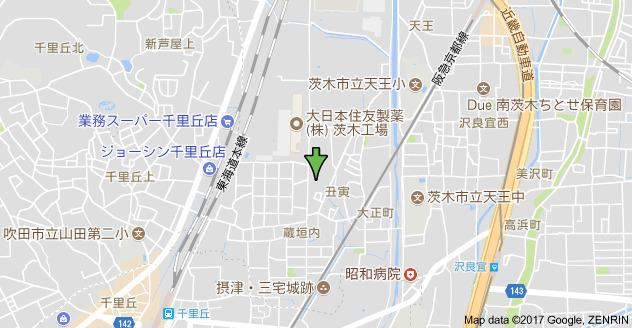 【地図】マンショングランドモナーク