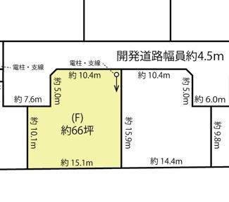 【土地図】鴻巣市箕田の売地 F区画
