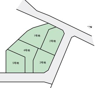 【土地図】壱町田分譲地(5区画)1号地